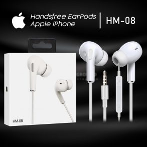 HANDSFREE IPHONE WHITE-HM-08