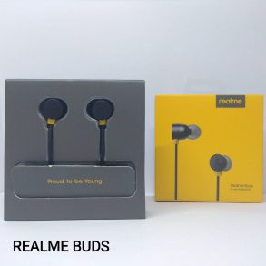 HANDSFREE REALME BUDS BLACK ORI 100% PACK RMA-101
