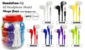 harga handsfree sq mp3 megabass toples isi 70 pcs