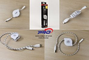 KABEL DATA PRO IPHONE KP-G104 BLACK