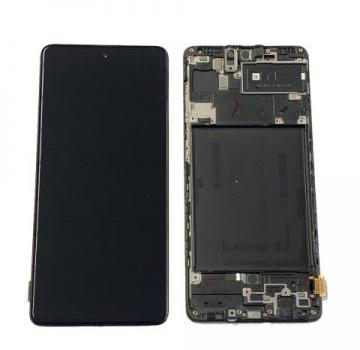 LCD SAMSUNG A715 BLACK-TS-GALAXY A71