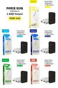 POWER BANK 10000 MAH PBB-402 LED OPPO BLACK