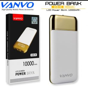 POWER BANK 10000 MAH VANVO SLIM VCS-16 LCD GOLD