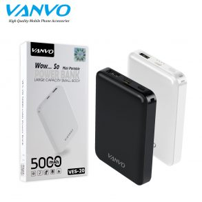 POWER BANK 5000 MAH VANVO VES-20 LED BLACK