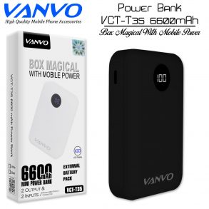 POWER BANK 6600 MAH VANVO VCT-T35 LCD BLACK
