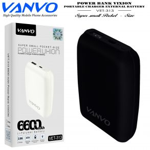 POWER BANK 6600 MAH VANVO VET-313 LED BLACK