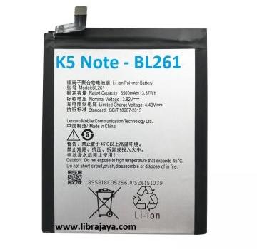 Jual Baterai Lenovo K5 Note-Bl261
