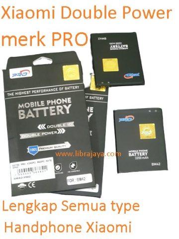 harga baterai xiaomi dobel power merk pro