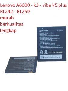 baterai-batre-lenovo-a6000-k3-k3t-vibe k5 plus-bl242-battery-bl259