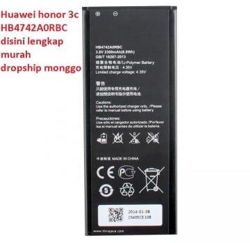 Jual Baterai Huawei Honor 3C murah