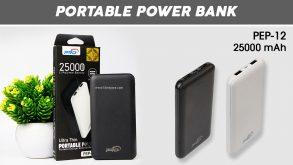 power bank 25000 mah pro pep-12