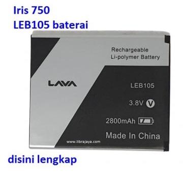 Jual Baterai Lava Iris 750 LEB105