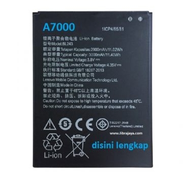 Jual Baterai Lenovo A7000