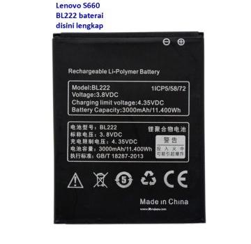 Jual Baterai Lenovo S660 BL222
