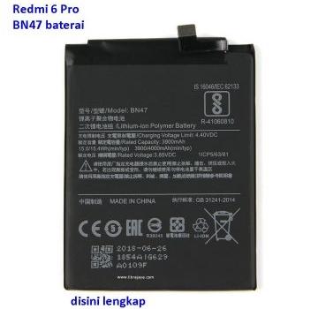 Jual Baterai Redmi 6 Pro BN47