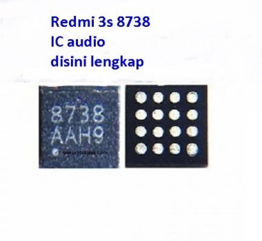 Jual IC audio 8738 Redmi 3s
