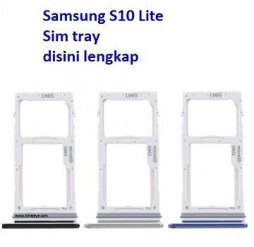 Jual Sim tray Samsung S10 Lite